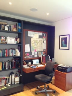Sue Guiney's writing room
