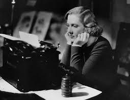 woman-bw-typewriter
